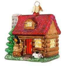lake cabin glass ornament world ornaments