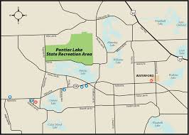 Cedar Fair Parks Map Pontiac Lake State Parkmaps U0026 Area Guide Shoreline Visitors Guide
