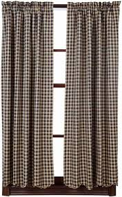 Black Check Curtains Curtain Panels Allysons Place