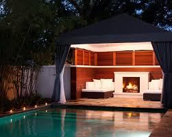 pool cabana plans landscaping gardening ideas