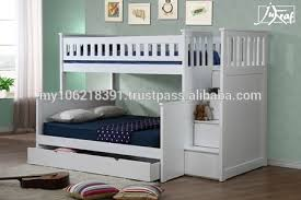 Wooden Triple Bunk Bed In White Good Quality Buy Kids Bunk Bed - Triple bunk bed wooden