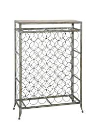 decorating cool small square standing black metal wine rack for