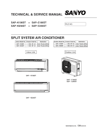 technical u0026 service manual split system air conditioner