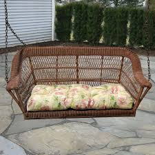 Swing Patio Chair by Antique Wicker Porch Swings