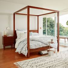 Wood Canopy Bed Sawyer Canopy Bed West Elm