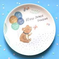 baby birth plate personalised baby birth plate ethel and co