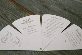 wedding programs paper grommeted paper fan wedding programs letterpress printed by smock