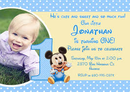 Mickey Mouse 1st Birthday Card Template Free Printable Baby Mickey Mouse 1st Birthday
