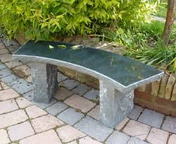 Outdoor Garden Bench Interior Grey Brick Stone Bench Patio With Fire Pit And Black