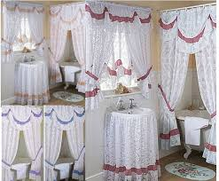 Matching Bathroom Shower And Window Curtains Bathroom Shower Curtains And Matching Accessories Luxury