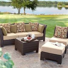 Pool And Patio Decor White Wicker Patio Furniture For Better Positioning On The Porch