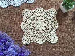 Shabby Chic Placemats by 10pcs Lot 20x20cm Multi Round Hand Made Crochet Doily Placemat Set