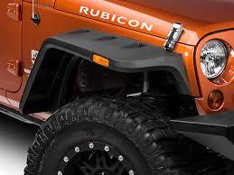 jeep wrangler jacked up matte black rugged ridge wrangler hurricane flat fender flares 11640 10 07 17