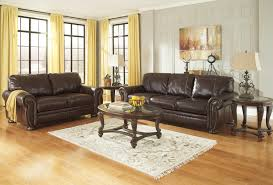 Fabric Sofa Recliners by Traditional Leather Match Sofa With Rolled Arms Nailhead Trim