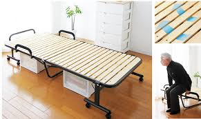 Slatted Bed Frames Shop Japanese Tatami Metal Folding Bed Frame With Caters