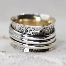 worry ring stunning sterling silver jewellery oxidised textured worry ring