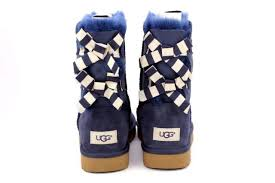 womens ugg boots navy womens ugg bailey bow stripe 1090941 boots navy blue 7 8 winter