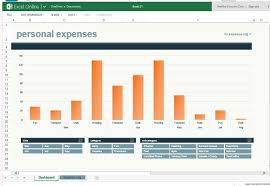 monthly expense chart template for excel online