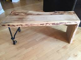 live edge bench live edge coffee table with steel legs rustic