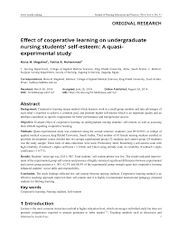effect of cooperative learning on undergraduate nursing students
