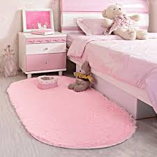 Pink Rug For Nursery Area Rug Soft Kids Room Girls Mat Shaggy Pink Nursery Mat Home