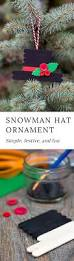 how to make a snowman hat ornament