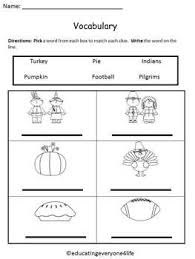 thanksgiving vocabulary worksheets u2013 happy thanksgiving