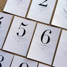 free wedding table numbers designcorral com wedding printables