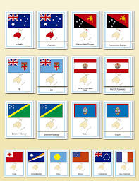 Books About Flags Cosmic Topic Resource Assignment Flags Of Oceania Montessori