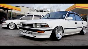 stanced toyota toyota corolla stance youtube