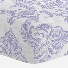 Lilac Damask Crib Bedding Lilac Painted Damask Crib Sheet Carousel Designs