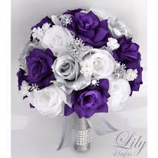 and silver wedding purple silver white