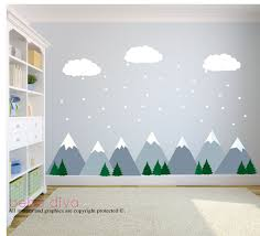 Fabric Wall Decals For Nursery Mountain Wall Decals Wall Decals Nursery Baby Wall Decal