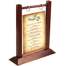 wooden table tents a frame table tent table top menus menumasters