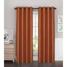Terracotta Blackout Curtains Terracotta Curtains Drapes Window Treatments The Home Depot