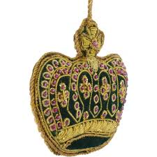zardozi crown ornament green craftoutlet