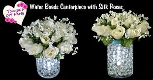 roses centerpieces diy lighted water centerpiece with silk roses