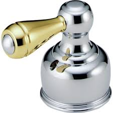 Delta Faucet Handle Replacement Delta Traditional Lever Handle In Chrome And Polished Brass For
