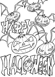 happy halloween pumpkin coloring pages hallowen coloring