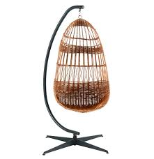 hanging wicker egg chair on stand ebth