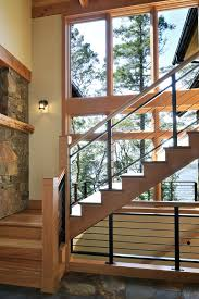 stair railing ideas staircase rustic with black railing horizontal