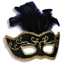 mardi gras mask with feathers black gold venetian mardi gras mask with feathers