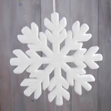 white snowflake decoration large 15 inch size