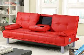 Living Room Bluetooth Speakers Modern Designer 3 Seater Faux Leather Sofa Bed Built In Bluetooth