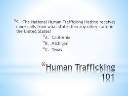Human Trafficking Estimates by Human Trafficking 101 Of The Elca