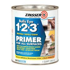 zinsser bulls eye 1 2 3 1 qt white water based interior exterior