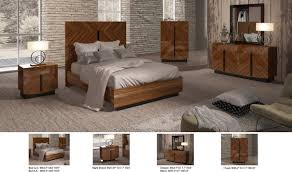 flavia bedroom set in walnut lacquer free shipping get furniture esf flavia bedroom set in walnut lacquer detail view