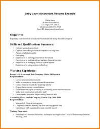 Accountant Resume Samples by 5 Entry Level Accounting Resume Samples Cashier Resumes