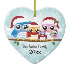 owl family ornaments keepsake ornaments zazzle