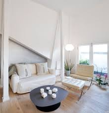 barcelona chair living room living room modern with white leather
